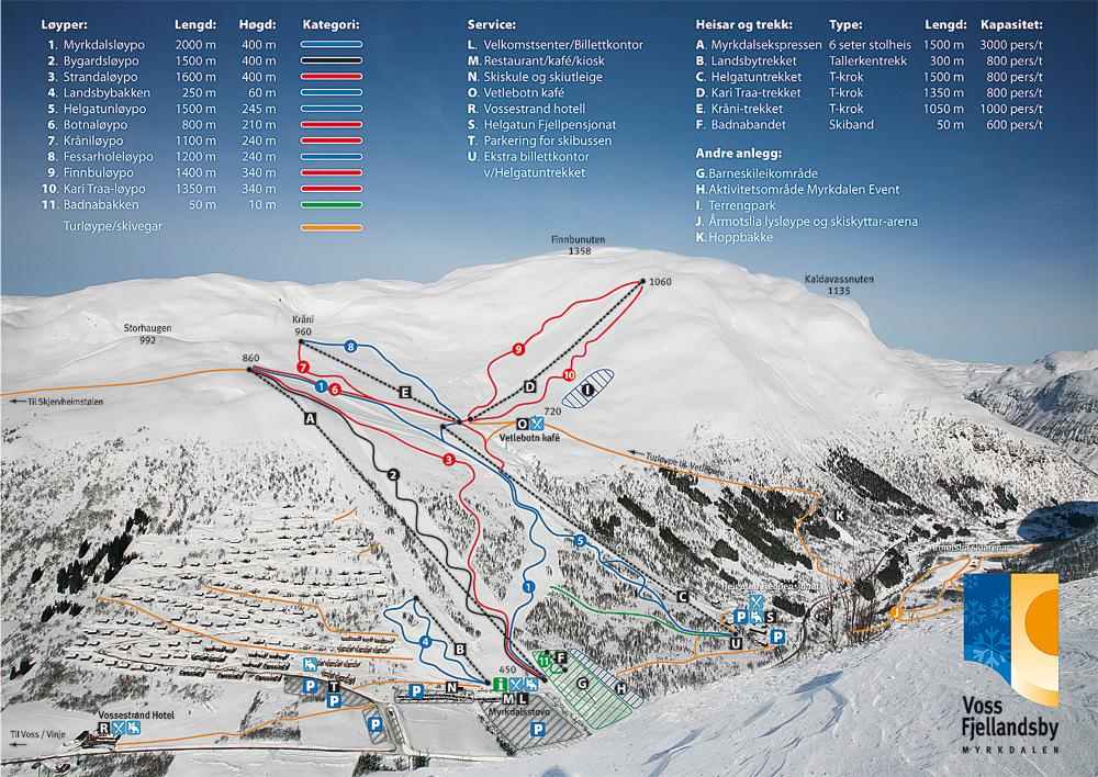 eikedalen kart Voss Fjellandsby Myrkdalen ski Snowboard bilder Video ProHD Ole  eikedalen kart